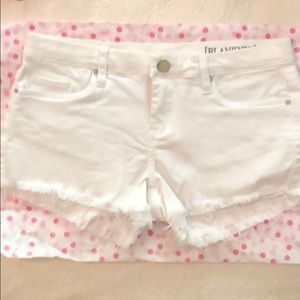 Blank NYC white denim shorts